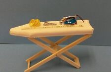 Dollhouse mini 1:12 ironing board, steam iron yard stick, tape measure, scissors