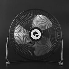 10 inch Large Full Black Metal Electrical Rotatable USB Rechargeable Desk Fan