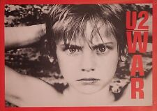 "MUSIC POSTER~U2 War Original 32x23"" Full Size NOS Vintage UK Import Cover Bono~"