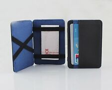 Cool Ultra Thin Leather Magic Wallet Credit Card Holder Black
