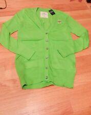 NWT Hollister Boyfriend  Cardigan Sweater Green  Medium