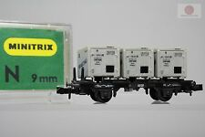 N 1:160 Minitrix 51 3536 00 Vagon mercancias Contrans DB trenes escala