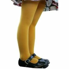 V18 - 100 Den Mustard Yellow Color Girls Pantyhose Stockings Aged 6-12