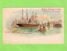 Red Star Line Steam Ship Kensington Southwark New York unused old pc Ref A412