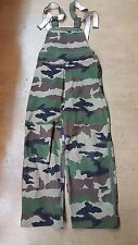 Rare Original French Army Issue Goretex Trousers CCE Woodland Camo 30W 30L