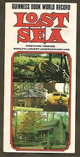 THE LOST SEA, WORLD'S LARGEST UNDERGROUND LAKE, SWEETWATER, TN BROCHURE