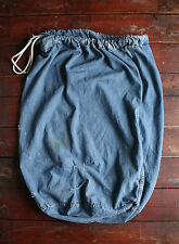 VTG 40s WW2 US NAVY LARGE DENIM BARRACKS LAUNDRY BAG USN SEA DUFFLE WORK SACK