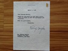Melvyn Douglas   SIGNED Letter 1958  Beautiful Signature Garbo Co-Star