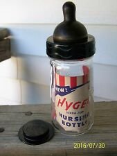 VINTAGE HYGEIA 4 OUNCE BABY BOTTLE ORIGINAL NIPPLE AND INSERT/ BY BALL