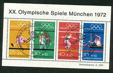 Bundespost Block  8 (2) met eerstedagstempel MÜNCHEN 2