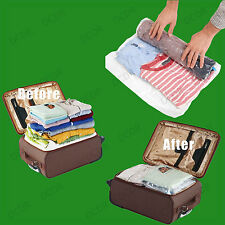 2x 50x70cm Roll Up Space Saving Travel Vacuum Seal Bags Zip Lock Holiday Luggage