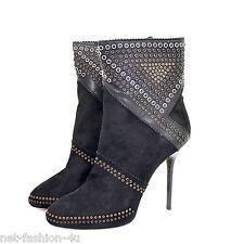 JIMMY CHOO TYLER STUDDED BLACK SUEDE BOOTS SHOES UK 7.5 US 10.5 IT 40.5 BNT BOX