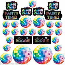 30 x Disco Fever 70's Boogie Birthday Party Value Cutouts Wall Decorations BA