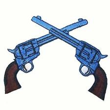 DOUBLE PISTOLS EMBROIDERED PATCH new jacket iron on 440 bikers novelty patches