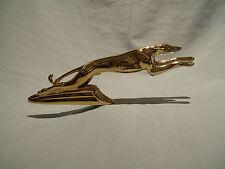GOLD PLATED GREYHOUND CAR BONNET MASCOT