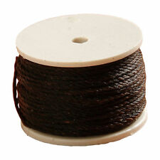 Leathercraft Waxed Sewing Thread Spool for Tandy Lock Stitch Awl 12m Brown