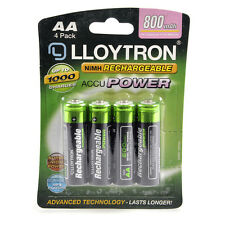 4Pk AA 800mAh NiMH Rechargeable AccuPower Batteries Up To 1000 Charges B011