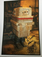 10x8 Hand Signed Photo of Raymond Griffiths - Star Wars Gonk Droid