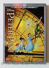 Disney Classic Animated Masterpiece Peter Pan in Vault DVD Blu-ray w/ Slipcover