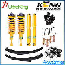 """Nissan Navara D40 Front Rear Shock + KING Coil Spring + Leaf Spring 2"""" Lift Kit"""