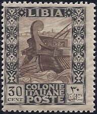 LIBIA 1921- 30 Cent. n. 27 PITTORICA INTEGRO SPL € 112,50
