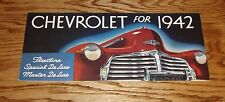 1942 Chevrolet Full Line Sales Brochure 42 Chevy Fleetline De Luxe