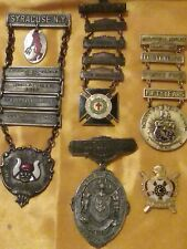 KEDER KAHN GROTTO MASONIC DEMOLAY KNIGHT'S TEMPLAR ANTIQUE BADGE LADDER MEDALS!