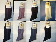 12  ASSORTED PAIRS OF MEN PATTERNED SILK FEEL SMART SOCKS 6-11 ( £9.99)