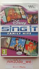 Disney Sing It Family Hits (Wii) * Nuevo * Libro De La Selva/Rey León/Cenicienta/Toy Story