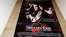 SWEENEY TODD   !  tim burton  affiche cinema