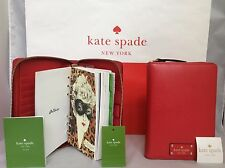 NWT Christmas Gift Kate Spade Cherry Red Wellesley 2017 Organizer Planner Agenda