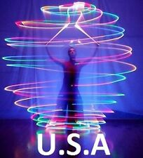 Belly Dance Veil Poi Light Up Poi Balls Pair LED 7 colors Costume USA Quick