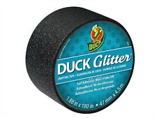 Coloured Duck Duct Gaffer Waterproof Tape GLITTER BLACK Repair Craft DIY Use