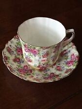 - Vintage Old Royal Bone China Chintz Cup And Saucer Roses -3128