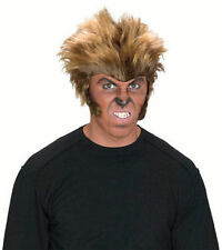 Men's Boys Big Bad Wolf Man Wig Halloween Werewolf Horror Fancy Dress Fun