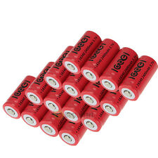16x2400Mah 3.7V 16340 CR123A Li-ion Rechargeable Battery Cell Flashlight camera