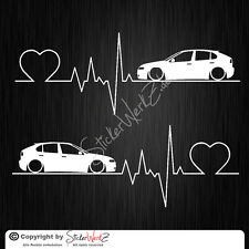 0655 | Herzschlag Seat Leon 1M Satz Aufkleber | Sticker