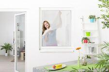 Moustiquaire fenêtre fixation velcro L150 x H180 cm Blanc