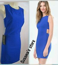 NWT bebe Sarah Twill Side Band Dress SIZE L Lightweight twill, Luxe & sexy$148