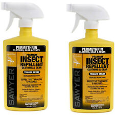 2 Pack - Sawyer Permethrin Premium Insect Repellent Spray 24 oz