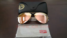 New Ray Ban Aviator Large Metal 3026 copper PINK flash Mirror 62MM Sunglasses