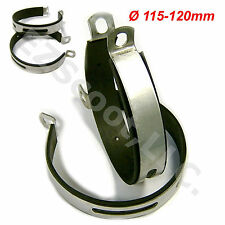 2X MUFFLER CLAMP BRACKET W RUBBER 125-150cc GY6 SCOOTER PEACE SUNL VIP BMS VENTO