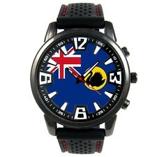 Western Australia Flag Men's Style Black Silicone Band Quartz Wrist Watch S255F