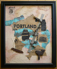 RUTH CUTTER CA ASSEMBLAGE MODERN MODERNISM EXPRESSIONISM PORTLAND ABSTRACTION