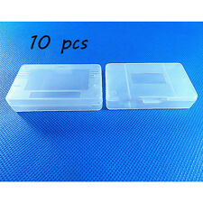 10 x Hi-Quality Clear White Nintendo Game Cartridge Case for Game Boy GBA SP