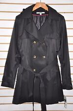 NWT Women DKNY Hooded(Detachable) Double-Breasted Trench Coat. Sz.XXL