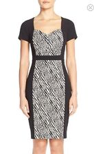 NWT NYDJ Gisselle Zebra Print Sheath Dress Size 16 MSRP $188