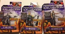Terminator Salvation Action Figure Lot Marcus T-600 T-R.I.P. Damaged Cards 2009