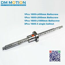 1605 Ball screws L450/950/1000mm-C7 Anti Backlash Rolled Ballscrew 3pcs Ball nut