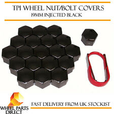 TPI Injected Black Wheel Nut Bolt Covers 19mm for Ford Focus RS [Mk2] 08-15